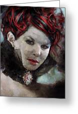 Vampiress Greeting Card by Christopher Lane