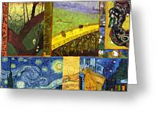 Van Gogh Collage Greeting Card by Philip Ralley