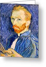 Van Gogh On Van Gogh Greeting Card by Cora Wandel