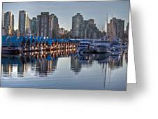 Vancouver Boat Reflections Greeting Card by Eti Reid