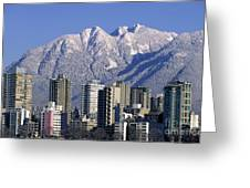 Vancouver Skyline West End Greeting Card by Kevin Miller