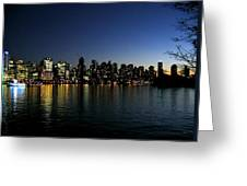 Vancouver Skyline Greeting Card by Will Borden