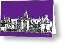 Vanderbilt's Biltmore In Purple Greeting Card by Lee-Ann Adendorff