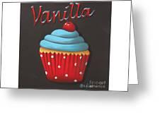 Vanilla Cupcake Greeting Card by Catherine Holman