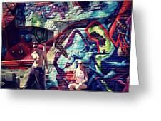 Vanilla Ice Graffiti Venice Beach Greeting Card by Lisa Piper Menkin Stegeman