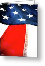 Variations On Old Glory No.1 Greeting Card by John Pagliuca