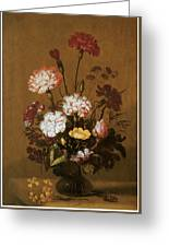 Vase Of Flowers Greeting Card by Hans Bollongier