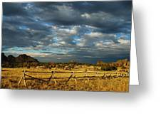 Vedauwoo Sky Greeting Card by Aaron S Bedell
