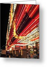 Vegas Neon Greeting Card by John Rizzuto