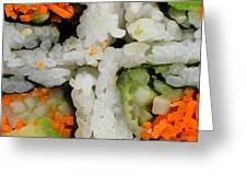 Vegetable Sushi Greeting Card by Amy Cicconi