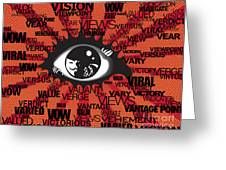 Vendetta Typography Greeting Card by Sassan Filsoof