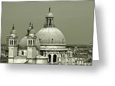 Venetian Basilica Salute Greeting Card by Julie Palencia