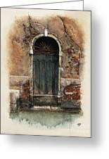 Venetian Door 01 Elena Yakubovich Greeting Card by Elena Yakubovich
