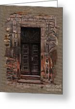 Venetian Door 02 Elena Yakubovich Greeting Card by Elena Yakubovich