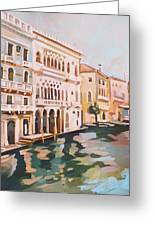 Venetian Palaces Greeting Card by Filip Mihail