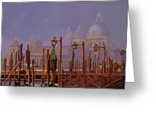 Venezia E La Nebbia Greeting Card by Guido Borelli