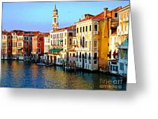 Venezia Grand Canal Greeting Card by Phillip Allen