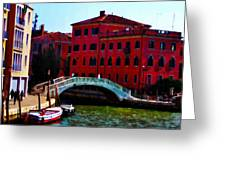 Venice Bow Bridge Greeting Card by Bill and Pat Cannon