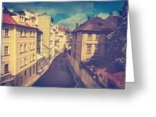 Venice In Prague Greeting Card by Taylan Soyturk
