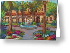 Ventura Mission Greeting Card by Diane McClary