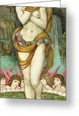Venus Greeting Card by John Roddam Spencer Stanhope