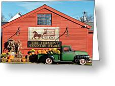 Vermont Country Store Greeting Card by John Greim