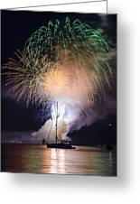 Vermont Fireworks Greeting Card by Randall Bertrand