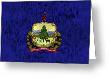 Vermont Flag Greeting Card by World Art Prints And Designs