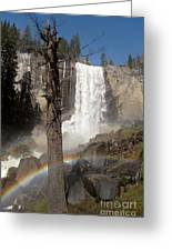 Vernal Falls With Rainbow Greeting Card by Jane Rix