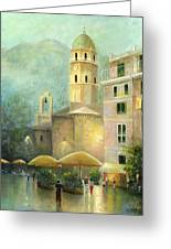 Vernazza Italy Greeting Card by Cecilia Brendel