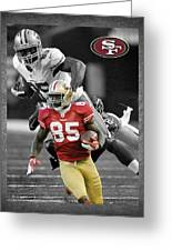 Vernon Davis 49ers Greeting Card by Joe Hamilton