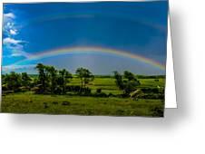 Vernon Marsh Double Rainbow Greeting Card by Randy Scherkenbach