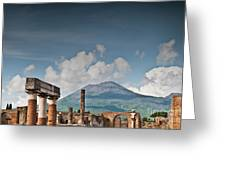 Vesuvius Greeting Card by Marion Galt