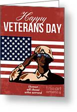 Veterans Day Greeting Card American Greeting Card by Aloysius Patrimonio
