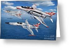 Vf-111 Sundowners Heritage Greeting Card by Stu Shepherd