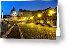 Via Alessandrina Greeting Card by Fabrizio Troiani