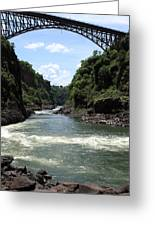 Victoria Falls Bridge - Zambia Greeting Card by Aidan Moran