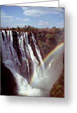 Victoria Falls Rainbow Greeting Card by Stefan Carpenter