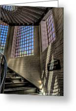 Victorian Jail Staircase Greeting Card by Adrian Evans