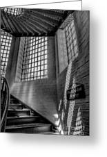Victorian Jail Staircase V2 Greeting Card by Adrian Evans