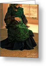 Victorian Lady Expecting A Baby Greeting Card by Jill Battaglia