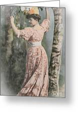 Victorian Lady In Beautiful Dress Greeting Card by Patricia Hofmeester