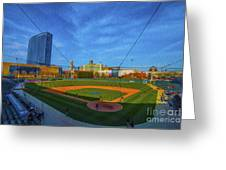 Victory Field Home Plate Greeting Card by David Haskett