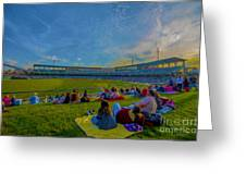 Victory Field Oil Greeting Card by David Haskett
