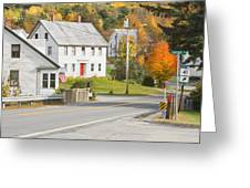 Vienna Maine In Fall Greeting Card by Keith Webber Jr