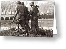 Vietnam Veterans Memorial - Washington Dc Greeting Card by Mike McGlothlen