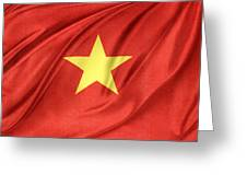 Vietnamese Flag Greeting Card by Les Cunliffe