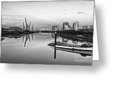 View Down The Clyde Mono Greeting Card by John Farnan