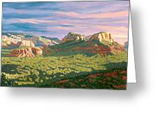 View From Airport Mesa - Sedona Greeting Card by Steve Simon