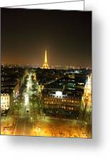 View From Arc De Triomphe - Paris France - 011313 Greeting Card by DC Photographer
